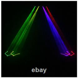 100 Patterns Sound Active Laser Stage Light LED RGBY Party Disco Dance Lighting