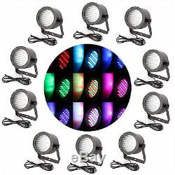 10X 86 LEDS RGB LED CAN DJ DANCE Stage Light PAR Disco Party Lighting Laser CLUB
