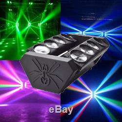 120W LED RGBW Spider Moving Head Stage Lighting DMX DJ Lights Disco Party Show