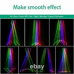 2PCS 460mW LED Stage Laser Light RGBY 4 Lens Beam DMX Projector for Disco Show
