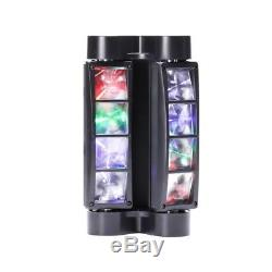 2PCS 8x10W RGBW LED Spider Beam Moving Head Stage Light Disco DJ Party Lighting