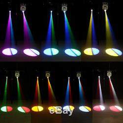 2PC 80W Moving Head Stage Gobo Light RGBW LED DMX Spot Club Party Disco Lights