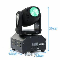 2-Pack 50W RGBW LED Beam Moving Head Stage Lighting DMX512 DJ Disco Party Light