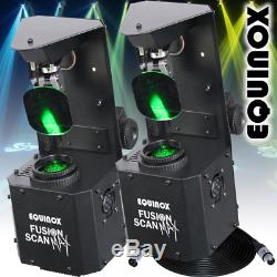 2 x Equinox Fusion Scan MAX 30W LED DJ Disco Stage Bar Club Scanner Light Effect
