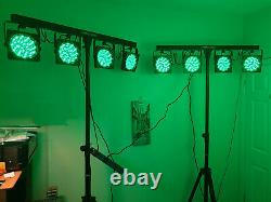 2 x Kam ParBar MK2 LED Stage/Disco Lighting bars x 2 with Pyle Lighting Stands