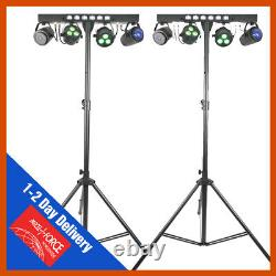 2 x QTX STAGE BAR LED PARTY BAR All In one Disco Stage Band DJ Lighting System