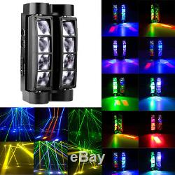 2x 80W RGBW LED Spider Moving Head Stage Light DMX512 Beam Disco DJ Party Light