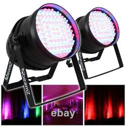 2x Beamz PAR 64 Can Disco Colour LED Party DJ Lighting Wall Lights Uplighters