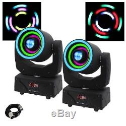 2x Equinox Saturn Spot 2-in-1 LED Moving Head DJ Disco Light Effect & FREE Cable