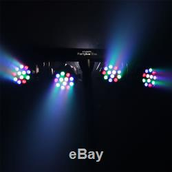 2x Kam Partybar Eco LED Lighting Par Can System Package inc Stand/Bag DJ Disco
