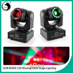 2x LED RGB Moving Head Stage Lighting Laser Strobe Beam Disco DJ Party Projector