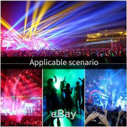 2x LED Spot RGBW Stage Lighting Prism GOBO Rotating Moving Head DMX Disco Party