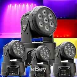 4X 70W RGBW Stage Lighting Beam Light LED Moving Head DMX DJ Disco Club Party UK