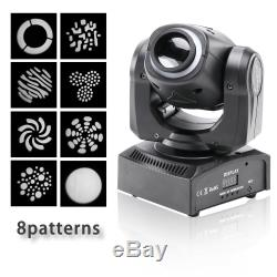 4X 80W LED RGBW Moving Head Light DJ Party 8Pattern Gobo Stage Lighting Disco