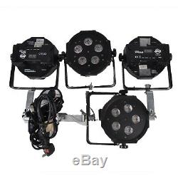 4 x ADJ Tripar Can Disco Lights with Quick Release Clamps Party Stage LED