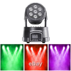 4 x DMX 70W RGBW 4 in 1 LED Moving Head Stage Lighting Wash DJ Disco Party Light
