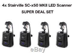 4x Stairville SC-x50 MKII LED Scanner Effekt Disco PA BAR Music Light Sound