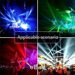 6 LED Rotating Moving Head Stage Light RGBW Sound Control DMX Disco Party Lights