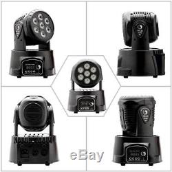 8PCS 105W Moving Head Stage Lights RGBW LED DMX Show Disco Party Lighting Remote