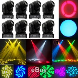 8X GOBO Stage Lighting RGBW LED Moving Head Beam DMX Disco Xmas Party Show Light