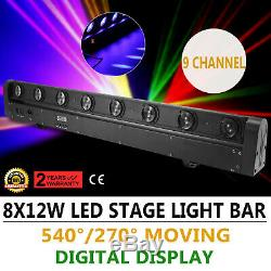 8x12W 4in1 LED Stage Light Beam Stage Effect DJ Disco Bar Light Moving Head