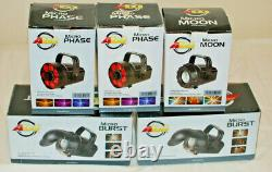 American Dj Adj Disco Lights Effects Micro Burst Phase Moon Led + Table Stands