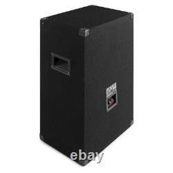 BS15 PA Speaker 15 Passive 800W with Built-in LED Lights Disco Bedroom DJ Party