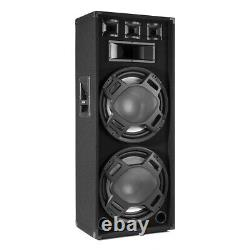 BS215 PA Speaker Dual 15 Passive 1000W with Built-in LED Lights DJ Disco Party
