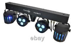 Battery Powered LED Disco Light Set with 2 LED Pars and 2 LED Derby Effects