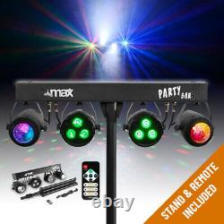 Battery Powered LED PartyBar Lights PAR Moon Disco Stage Lighting, T Stand, Bags