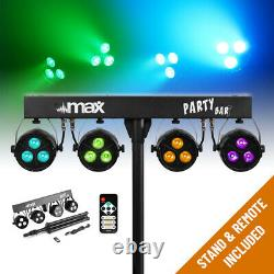 Battery or Mains Powered LED Lights PAR Disco Stage Lighting T-Bar Stand & Bags