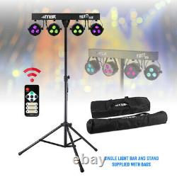 Battery or Mains Powered LED Party Light PAR Disco Stage System Stand & Bags