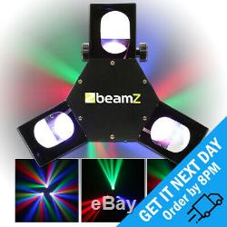 BeamZ Triple Flex Centre Pro RGB LED DJ Disco Scanner Strobe DMX Light Effect