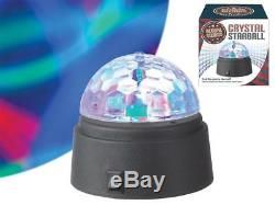 Crystal Star Ball Disco Led Light Flashing Colour Spinning Party Battery Power
