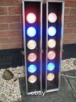 DISCO LIGHTS LED 6s, CONTROLLER /CABLES LIGHTING PACKAGE ONLY £195