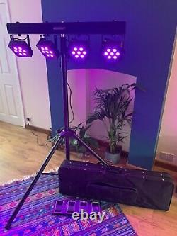 DJ/Function Band LED Bar Stand Disco Lights. Excellent Condition, upto 3.5m tall