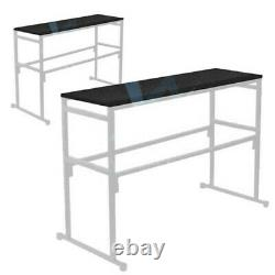 Gorilla GDS-4ft Disco DJ Stand Booth Lighting with LED StarCloth and 2x Shelves