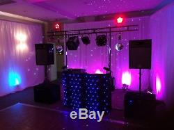 Great Sounding Complete Dj Disco Setup Booth Tops Subs Led Lighting Lasers Etc