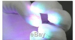 Kid LED Rave Flashing Gloves Glow Light Up Finger Lighting For Xmas Party 1 Pair