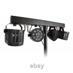 LED Derby FX Bar with Stand and Remote DJ Disco Lighting