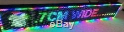 Led Colour Scrolling Display Sign Usb Programmable Disco, Shop Lights Magic Text