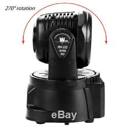 Pack of 8 70W RGBW Stage LED Moving Head Light DMX512 DJ Disco Party Lights