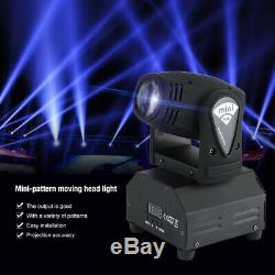 Pair of DJ Disco LED Light Moving Head Laser Projector Stage Lighting Show Party