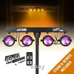 PartyBar Lights COB PAR Four in One Disco Stage LED Lighting T-Bar Stands & Bags