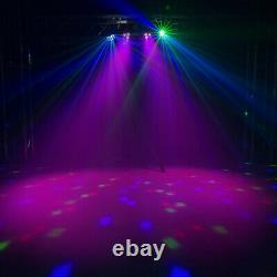 PartyBar Lights PAR Derby All in One Disco Stage LED Lighting T-Bar Stands, Bags