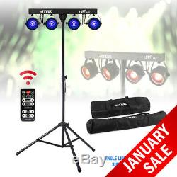 Party Bar Light COB PAR Four in One Disco Stage LED Lighting with Stand & Bags