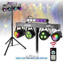 Party Bar Light UV Strobe Moon Disco Stage LED Lighting System with Stand & Bags