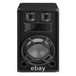 Party Speakers 12 Passive (Pair) with Built-in LED Lights Disco Bedroom DJ BS12