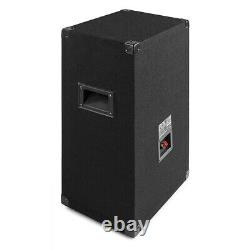 Party Speakers with Stands 12 with Built-in LED Lights Disco Bedroom DJ BS12