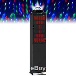Party Tower WIRELESS Bluetooth Music Speaker LED Disco Light Show Microphone Aux